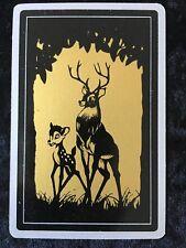 Swap Playing Cards 1 1960's Japanese Nintendo Disney Bambi & Dad A164