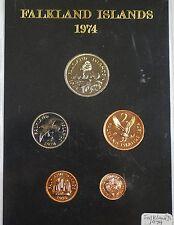 1974 Falkland Islands Proof Set 5 Gem Coins