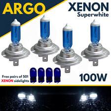 4 X H7 + 501 100w Super White Xenon High/low/sidelight Beam Headlight Bulbs 12v