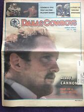 """"""" NFL Dallas Cowboys Official Weekly Magazine January, 12, 1985; Vol. 10, No.31"""