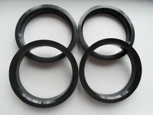A set of 4pcs Plastic HUB CENTRIC HUBCENTRIC RING RINGS ID 57.1mm to OD 71.12mm