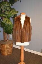 Muskrat Fur Vest. Great Condition! Ironed/Glazed!