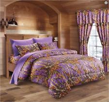 Purple THE WOODS WOODLAND CAMO Full-Queen COMFORTER-FREE SHIP