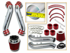 Short Ram Air Intake Kit+RED Filter for 90-96 300ZX Fairlady Z32 V6 Non-Turbo NA