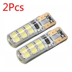 2X T10 194 W5W COB 2835 SMD 12LED 2W Car CANBUS Super Bright License Light Bulbs