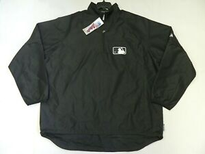 Authentic MLB Umpire Onfield Gamer Black 1/4 zip CONVERTIBLE Jacket RARE! Large