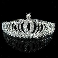 Sparkling Wedding Party Prom Bridal Crystal Rhinestone Crown Headband Veil Tiara