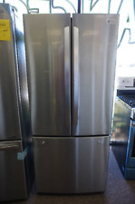 LG - 21.8 Cu. Ft. French Door Refrigerator - Stainless steel