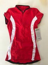 Alii Lifestyle Sport Women's Antoinetta Cap Sleeve Mandarin Collar Bike Jersey S