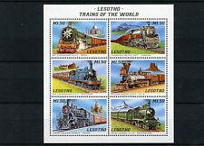 Lesotho 1996 MNH Trains 6v M/S II Railways Züge Trenes Treni Chemin de Fer