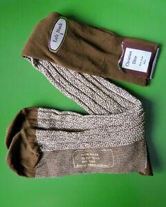 Vintage Christian Dior Mens Socks Left Bank I 100% Nylon Size 10-13 Brown rare?