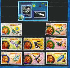 KAMPUCHEA-KHMER :blocco /francobolli serie A87: cometa halley e