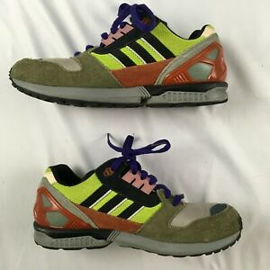 ADIDAS TORSION ZX 8000 B24862 neon green taupe shoes suede MENS 8.5