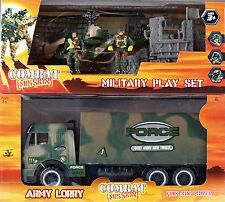 2 misión de combate ejército Mega Juego Soldados De Juguete-Force camión helicóptero ruina