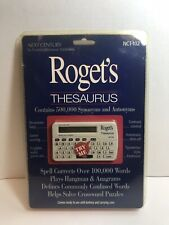 Vtg Franklin Nct-102 Roget's Electronic Thesaurus Synonym Antonym Spell Corrects