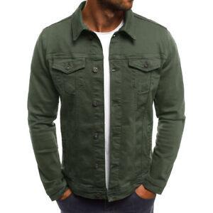 Vintage Men's Slim Classic Retro Denim Jean Coat Jacket Casual Outwear Tops Hot