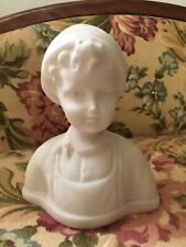 VINTAGE SANDSTONE? BUST ~ FRENCH COUNTRY PEASANT BOY ~ CHARMING FOR DISPLAY