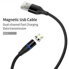Micro USB | Magnetic Charge & Data Transfer Cable | 3 A | Nylon | N 52 Magnet