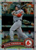 2011 Topps Chrome X-Fractors Boston Red Sox Baseball Card #90 Kevin Youkilis