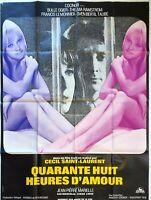 Plakat Kino Vierzig Acht Stunden D'Amour - 120 X 160 CM Cecil Saint Laurent