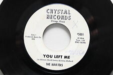 "THE MAR-TEKS/PIECES OF EIGHT 7"" RARE 45rpm TEEN GARAGE SOUL Misprint"