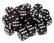 24 Black Dice, (six sided), 16mm , D6