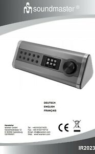 Soundmaster IR2023 Digital-Radio Internet DAB+ USB Bluetooth Netzwerkplayer