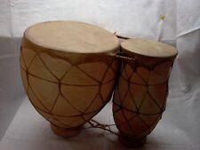 1 große marokkanische Bongos, D: 22,5cm & D: 13,5cm, H: 31cm, Sammlungsauflösung