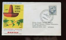 Qantas First Flight Cover 1964 Sydney, Australia to Mexico City, Mexico