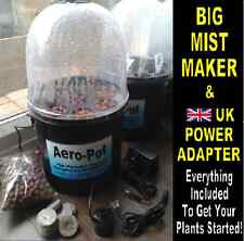 AERO-POT, Aeroponic Portable Heated Propagator - BLACK, BIG MISTER! 8x Pot