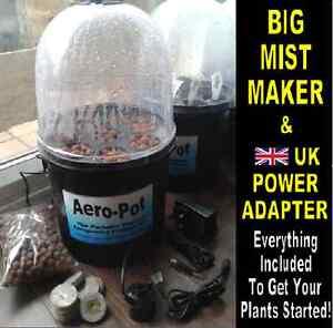 AERO-POT, Aeroponic Portable Heated Propagator 8 Pots - BLACK, BIG MISTER!