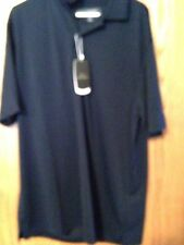 Greg Norman Play Dry L/G Navy Blue Shirt New With Tags