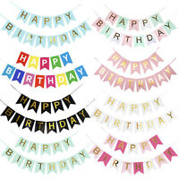 Happy Birthday Letter Backdrop Banner Party Decorations