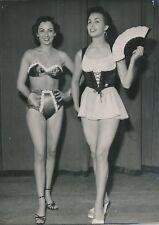MODE 1952 - Modèles Mannequins Maillot de Bain Ensemble de Plage Paris - PR 1088