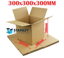 100x Cardboard Box 300x300x300mm Cube Packaging Carton Mailing Box Brown Slotted