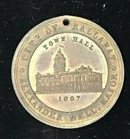 1897  VICTORIA 60 YEARS CITY OF BALLARAT TOWN HALL  AUSTRALIA MEDAL