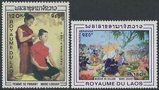 LAOS PA N°62/63** Tableaux de Marc Leguay, 1969 Painting Sc#C62-C63 MNH