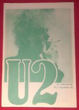 U2 NUMBER FIVE Magazine Pre-Propaganda November 82 Genuine Official Promo