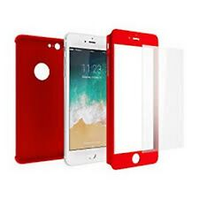 cover full 360 x iphone 6/6s colore rosso ultra sottile
