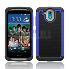 Rugged Hybrid Armor Hard Protective Case Impact Cover Skin For HTC Desire 526G