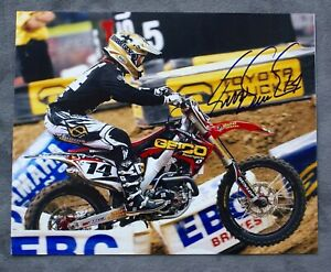KEVIN WINDHAM SIGNED PHOTO VINTAGE MOTOCROSS FOX RACING SUPERCROSS HONDA