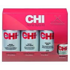 CHI KIT INFRA chacun 350ml Shampoing Kératine Mist traitement + soie infusion