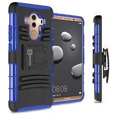 For HTC 10 Belt Clip Case Black / Black Holster Hybrid Phone Cover