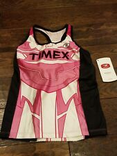 Sugoi Bike Cycling Womens Timex Fizz Tri Tank Cs11420F958 Medium Flamingo Nwt
