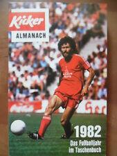 KICKER ALMANACH 1982 Fußball-Bundesliga DFB-Pokal Europacup Länderspiele