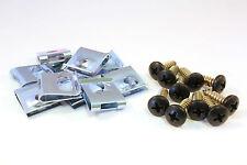 Satz Verkleidungsschrauben schwarz Edelstahl A2 + Blechmutter z.B. Piaggio NRG
