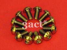 12 pcs Gold M5 x 10mm Titanium/Ti Bolt fit Hayes, Avid, Shimano Disc Brake Rotor