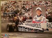 Signed Joe Amato Poster 19 X 26 Top Fuel Dragster NHRA Valvoline 1990