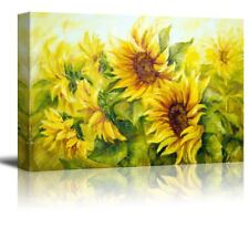[Framed] Yellow Sunflowers Giclee Oil Painting Canvas Prints Wall Art Home Decor