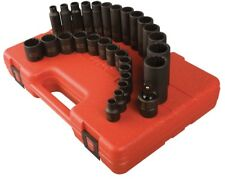 "Sunex 29pc 3/8"" Metric 12 Point Master Impact Sockets Set Drive Short Deep 3330"